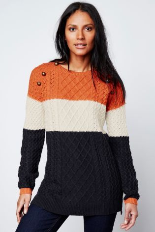Buy Cable Knit Sweater online today at Next: Israel | clothes from ...