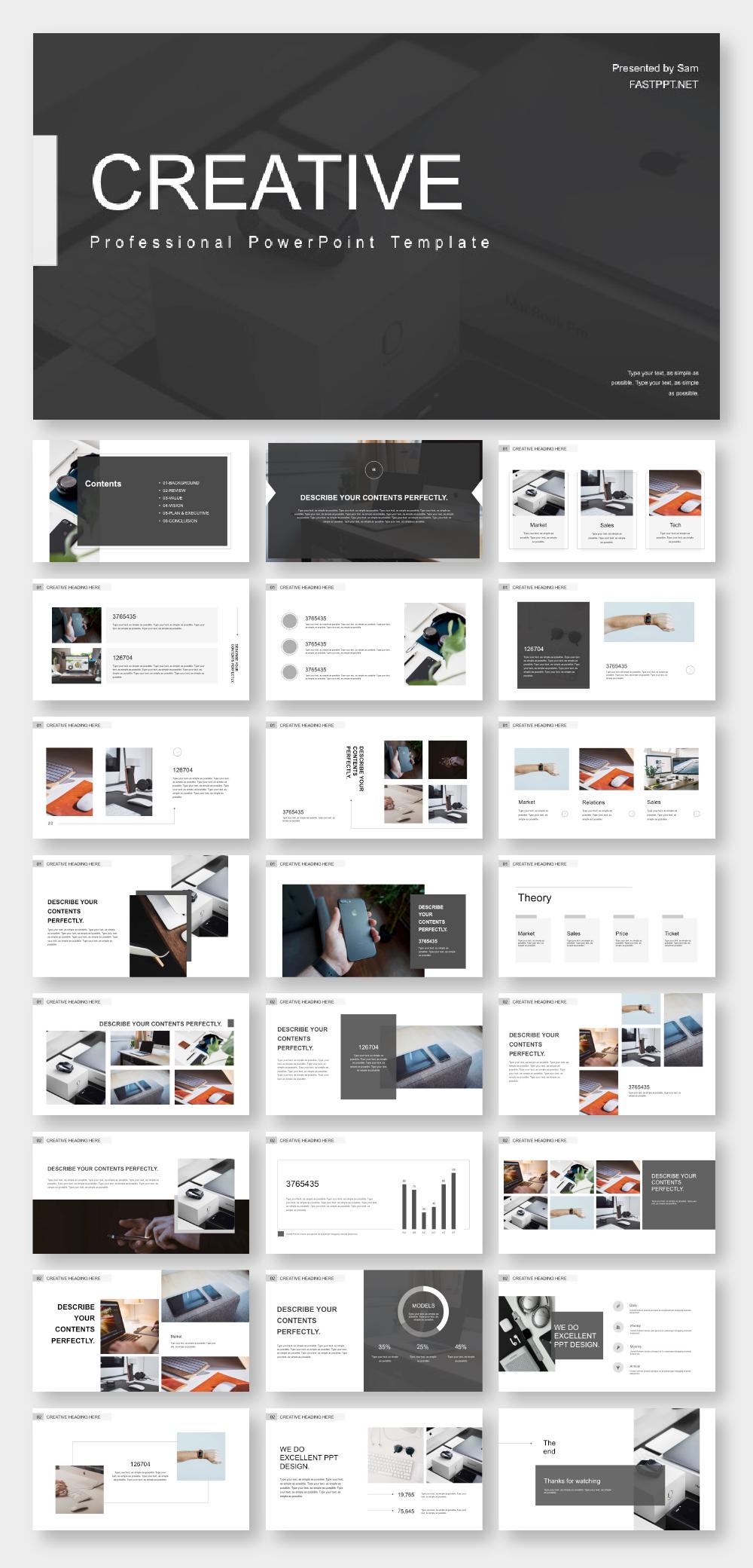 Business Design Minimal Presentation Template #powerpoint