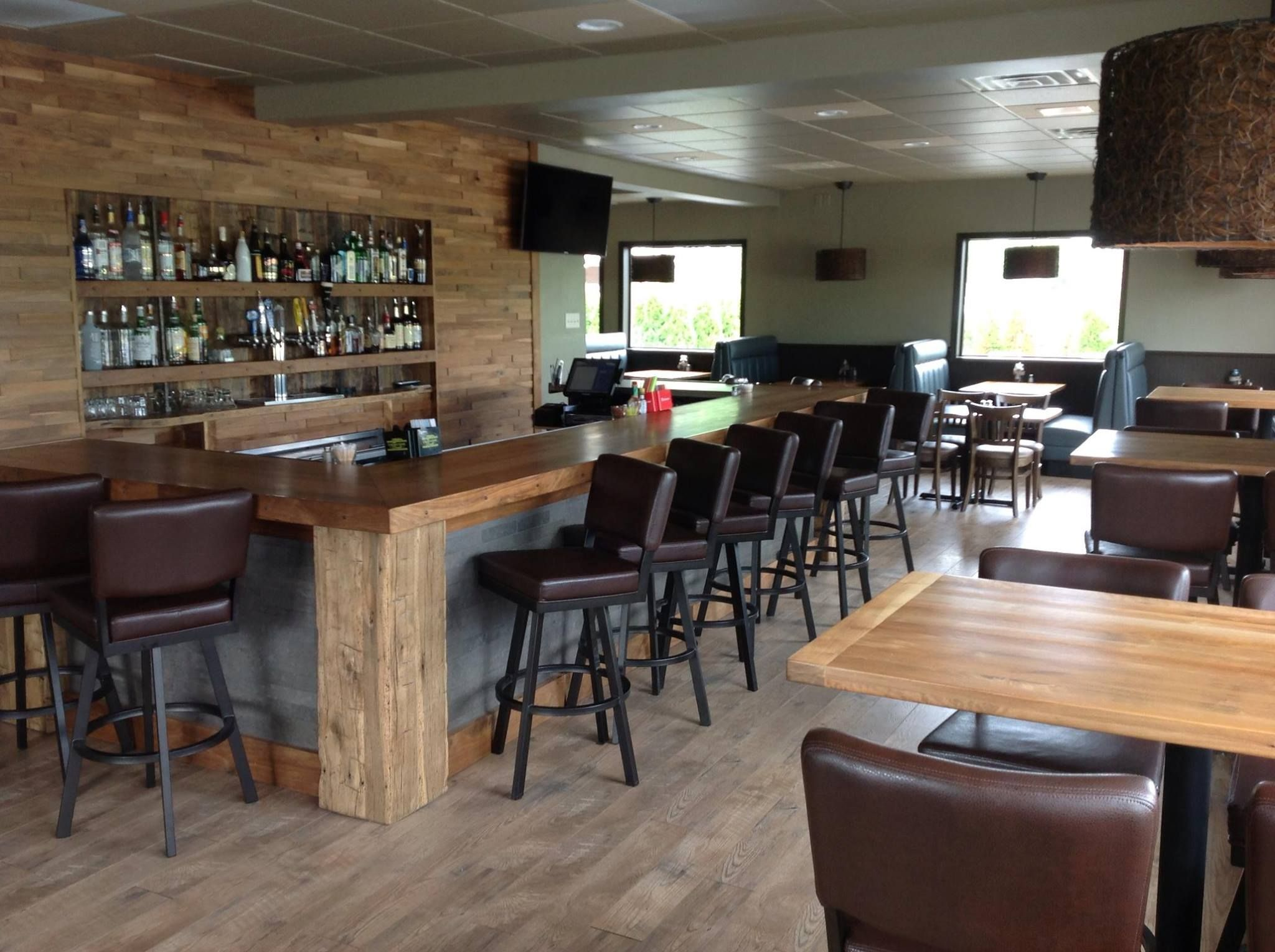 Walnut Wall Paneling, Bar Top And Table Tops. Www.mntimeworn.com