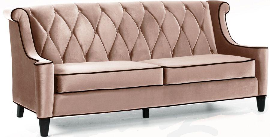 Armen Living Barrister Sofa Caramel Velvet $1,209.00