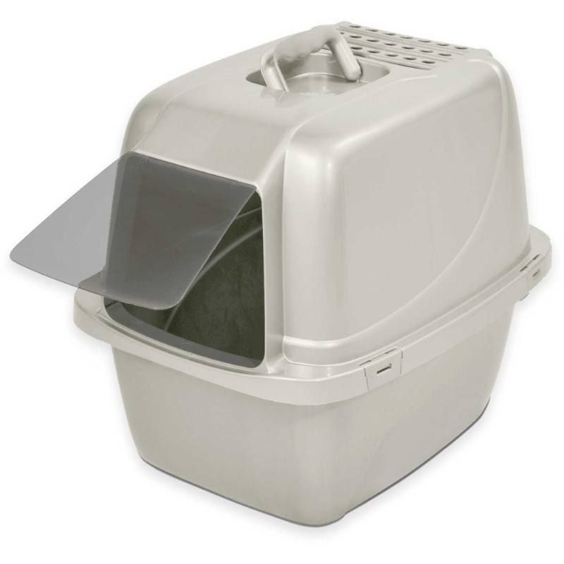 Large Van Ness Enclosed Cat Pan Prevents Litter Spills And