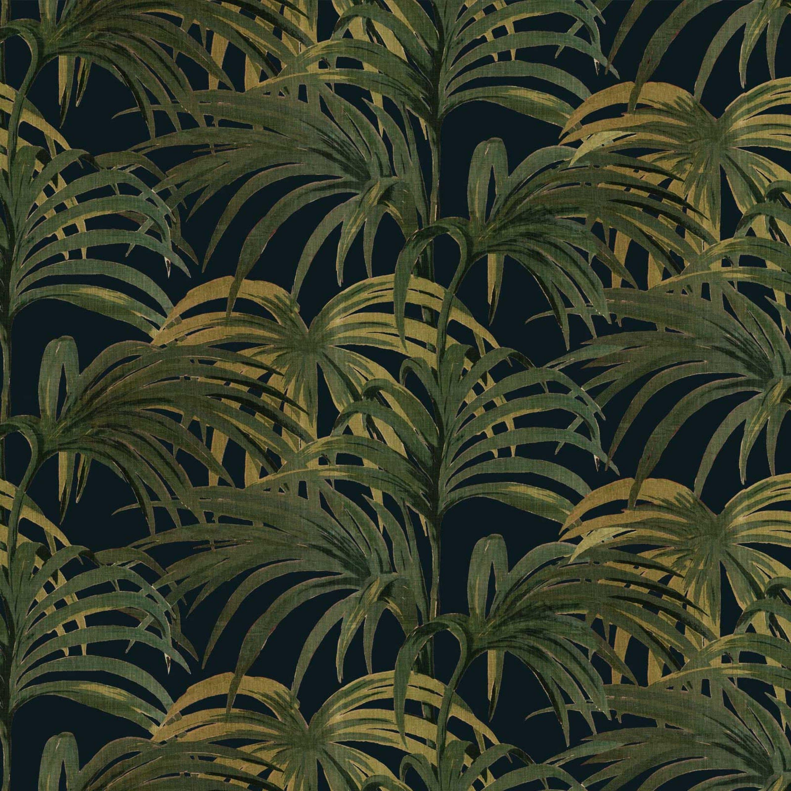 PALMERAL Cotton Linen Midnight / Green