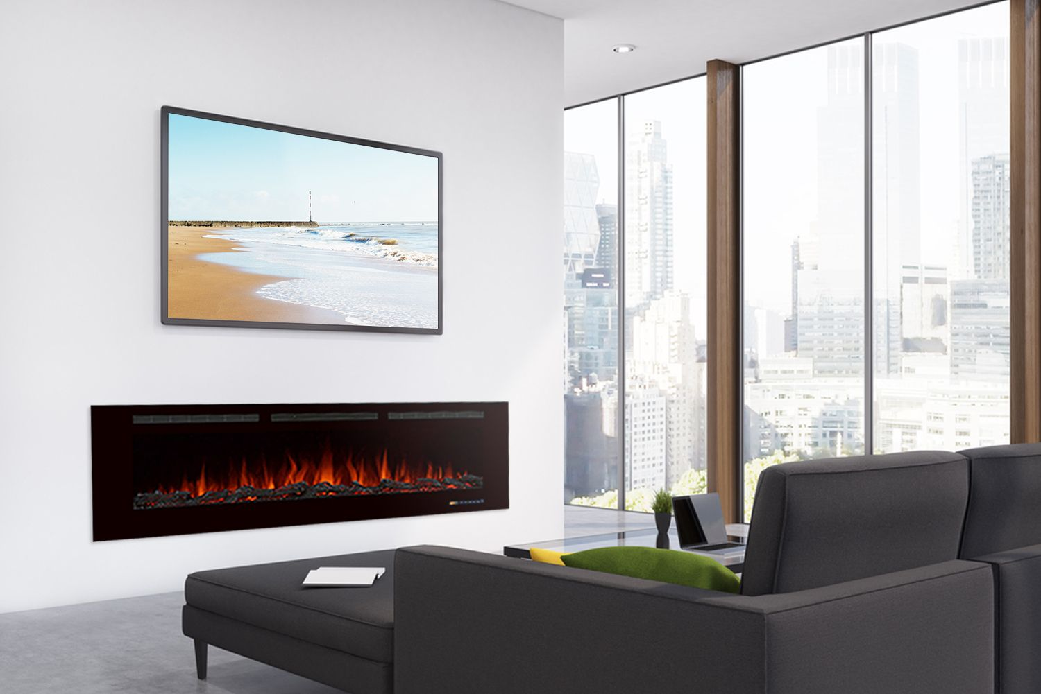 Millner Recessed Wall Mounted Electric Fireplace Best Electric