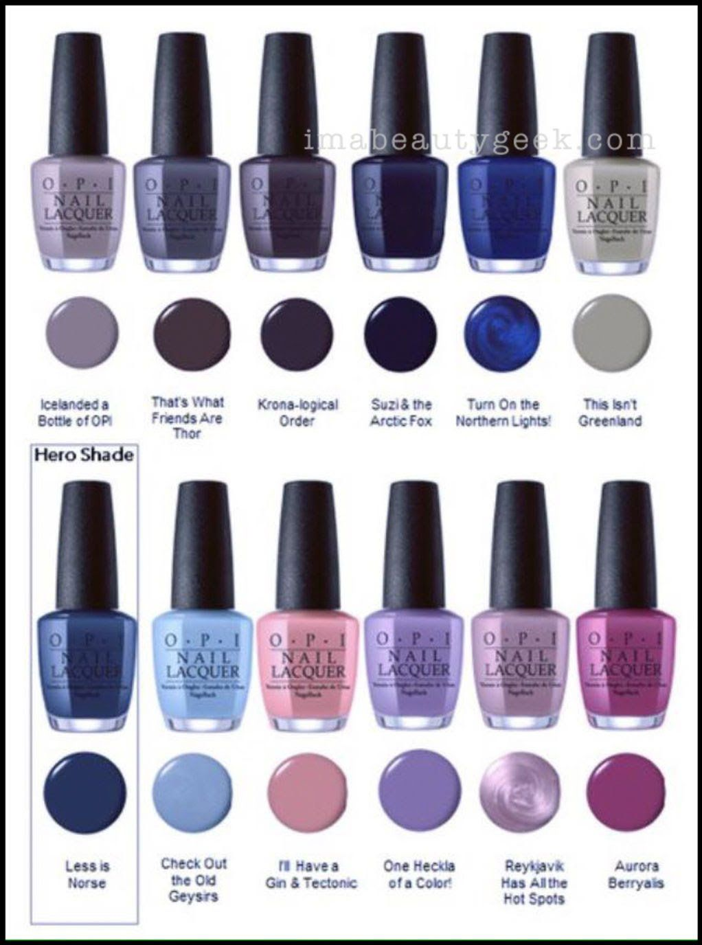 Nail Polish Lottery Club Week 8: OPI ICELAND SWATCHES & REVIEW FW 2017 COLLECTION
