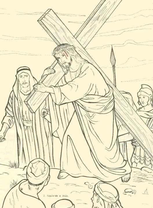 Via Crucis Para Ni Os Via Crucis Via Crucis Para Ninos Jesus Para Dibujar