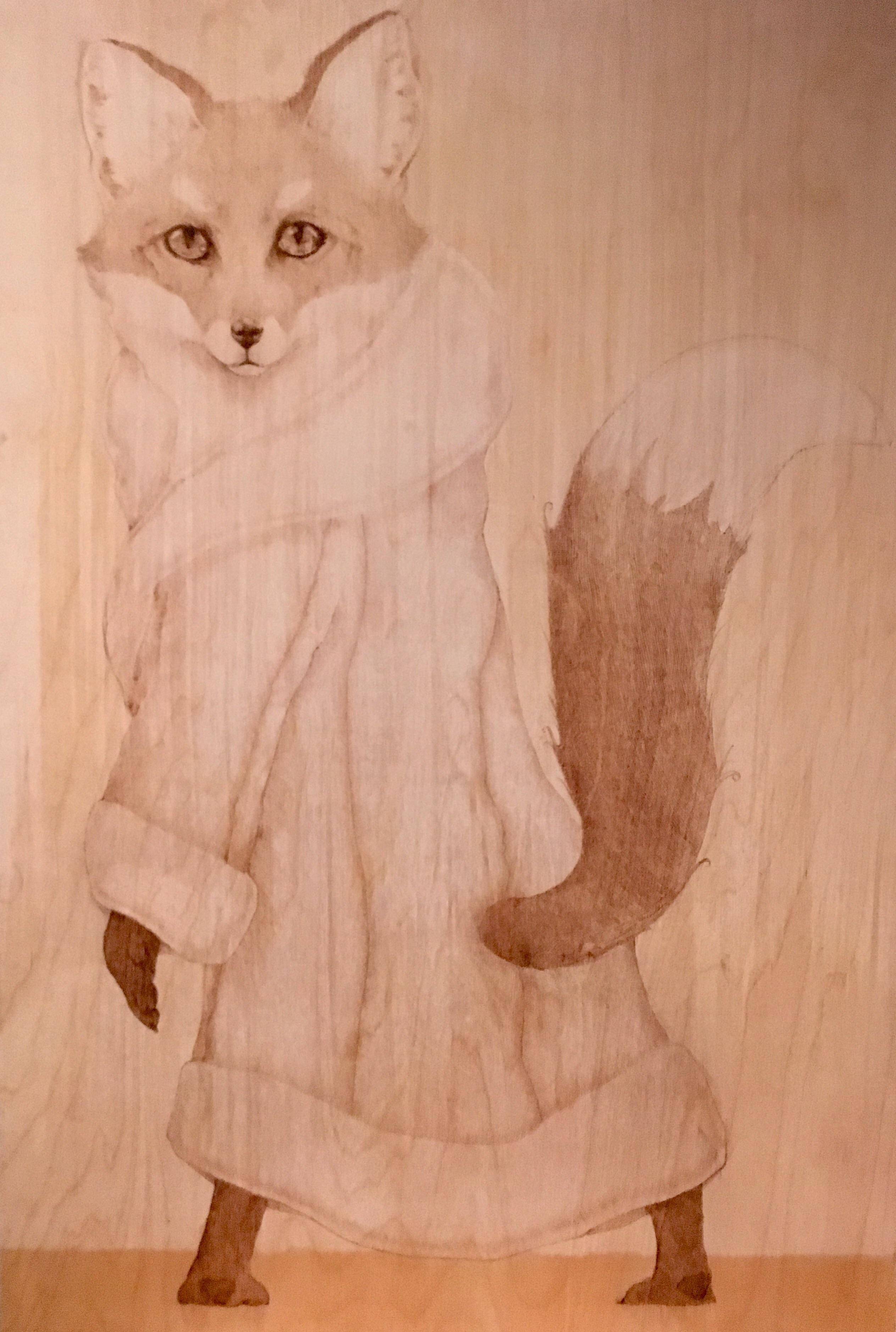 Fox pyrography x art pinterest