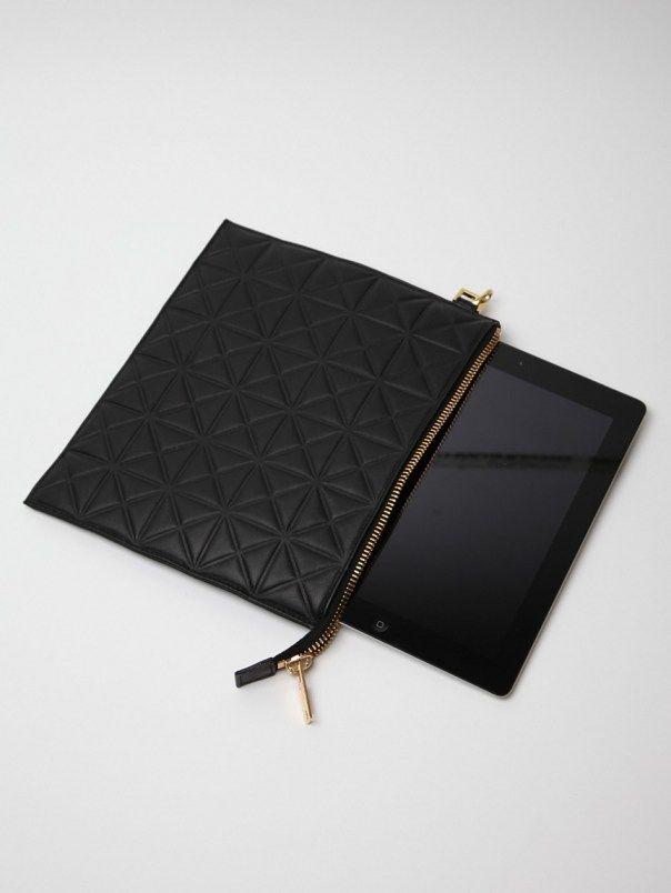 Gareth Pugh black embossed iPad case!