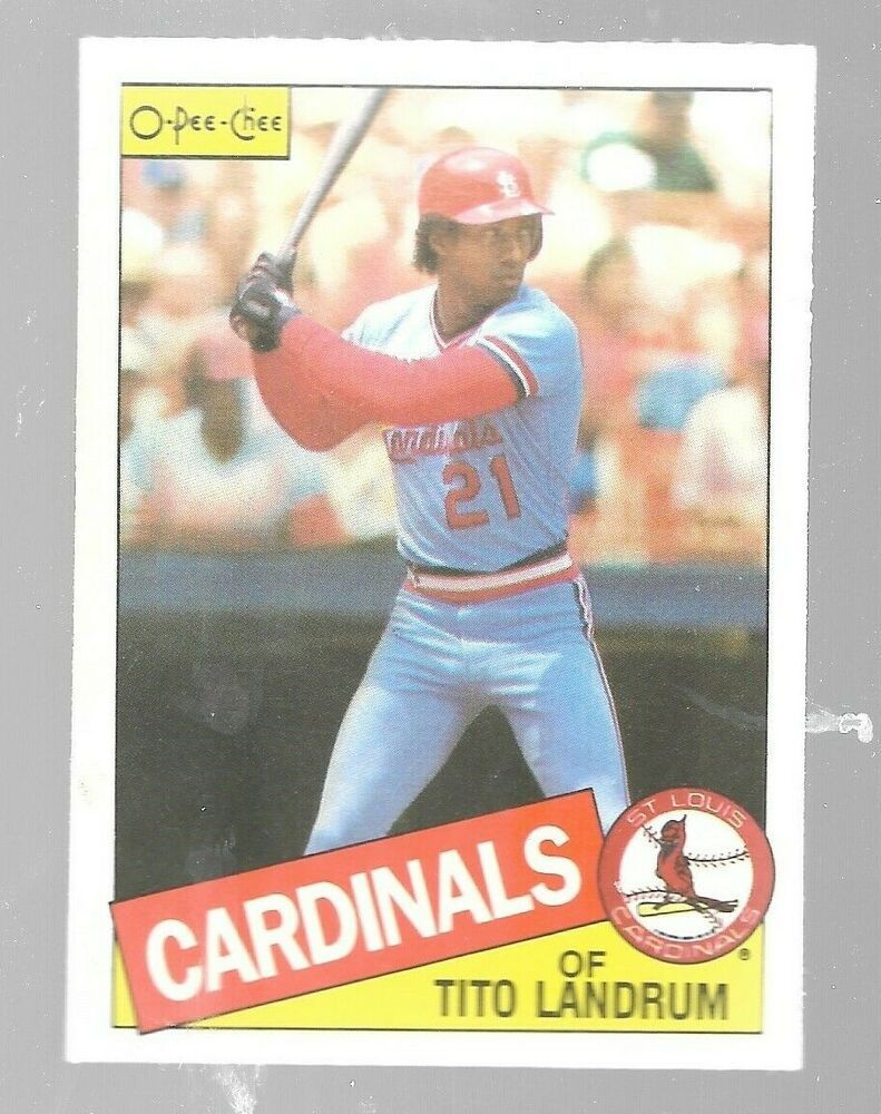 1985 O Pee Chee Tito Landrum 33 St Louis Cardinals