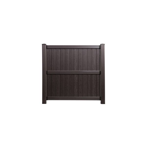 Keter Springfield 6-ft x 6-ft Brown Flat-Top Privacy Vinyl Fence Panel ($80) ❤ liked on Polyvore featuring home, home decor, window treatments, curtains, fence, brown home decor, vinyl home decor, vinyl curtains, vinyl window covering and brown window treatments