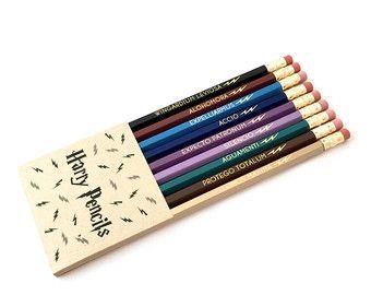 HARRY Bleistifte Zaubersprüche Bleistift Set Von LZpencils Auf Etsy