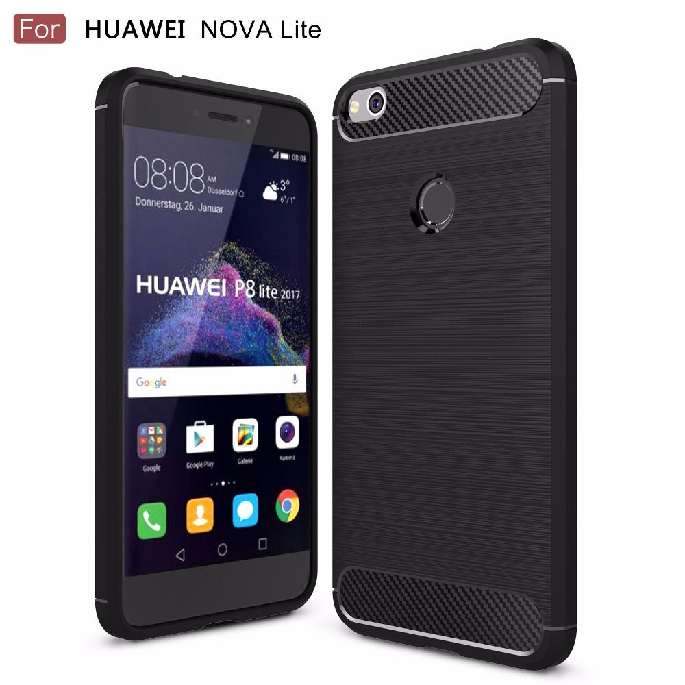 6880850723a91 Case for Huawei Nova Lite Phone Cover Carbon Fiber Brushed TPU Mobile Phone  Case Cover for