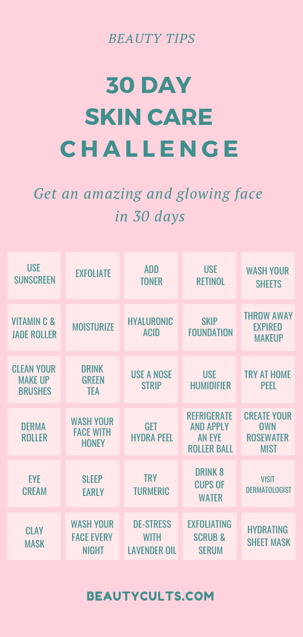 The Ultimate 30 Day Skin Care Challenge Beauty Cults Daily Skin Care Skin Care Beauty Skin Care