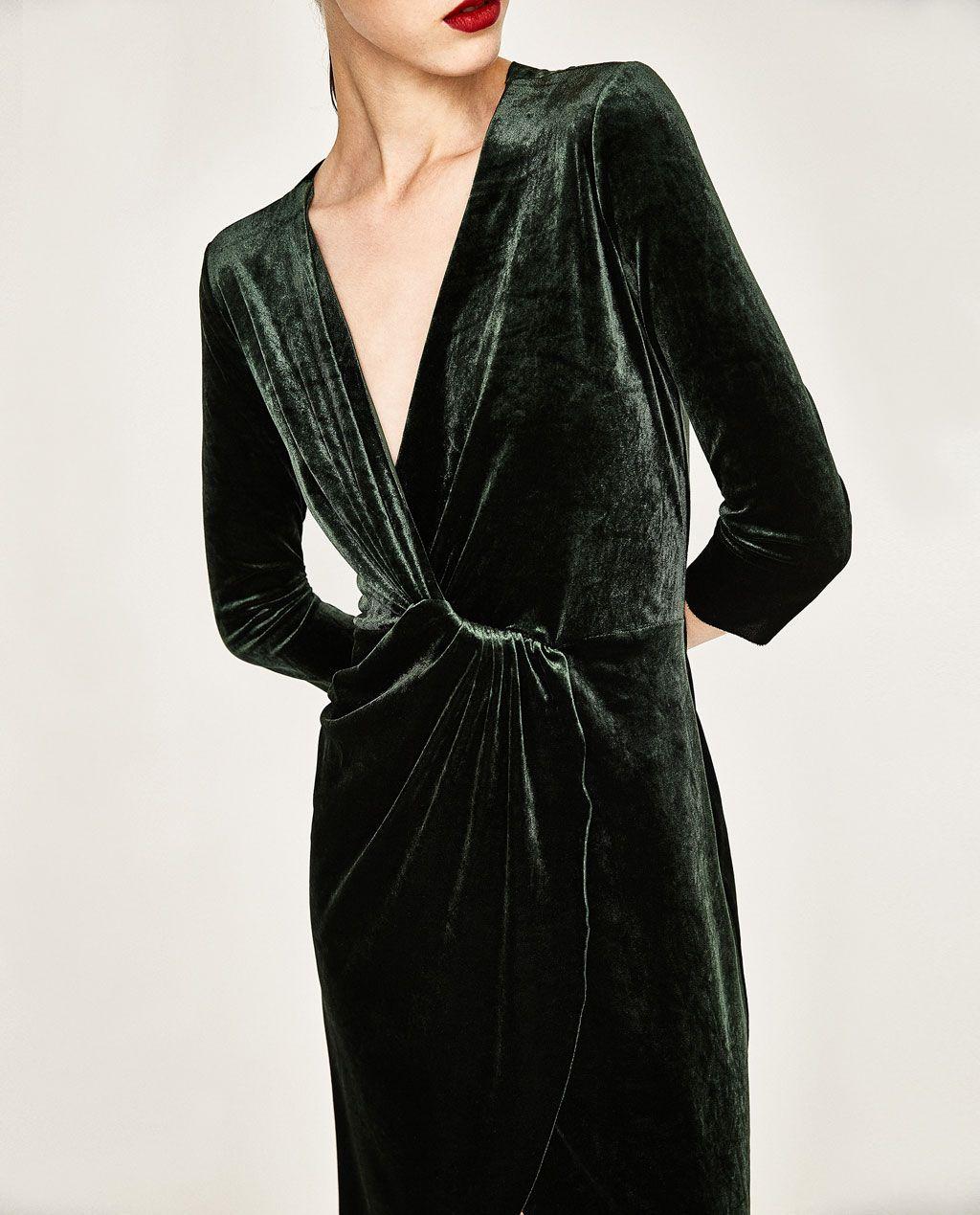 47ac5941 CROSSOVER VELVET DRESS-DRESSES-WOMAN | ZARA United States | clothes ...