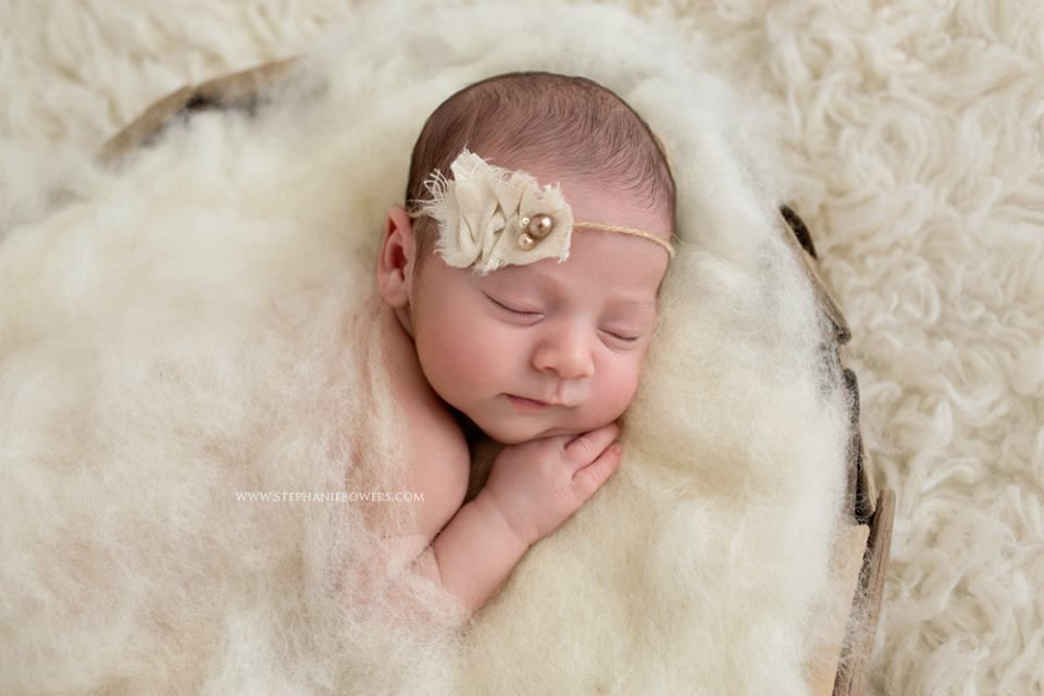 Simply fluff natural cream colored wool used as a newborn photo prop this lovely