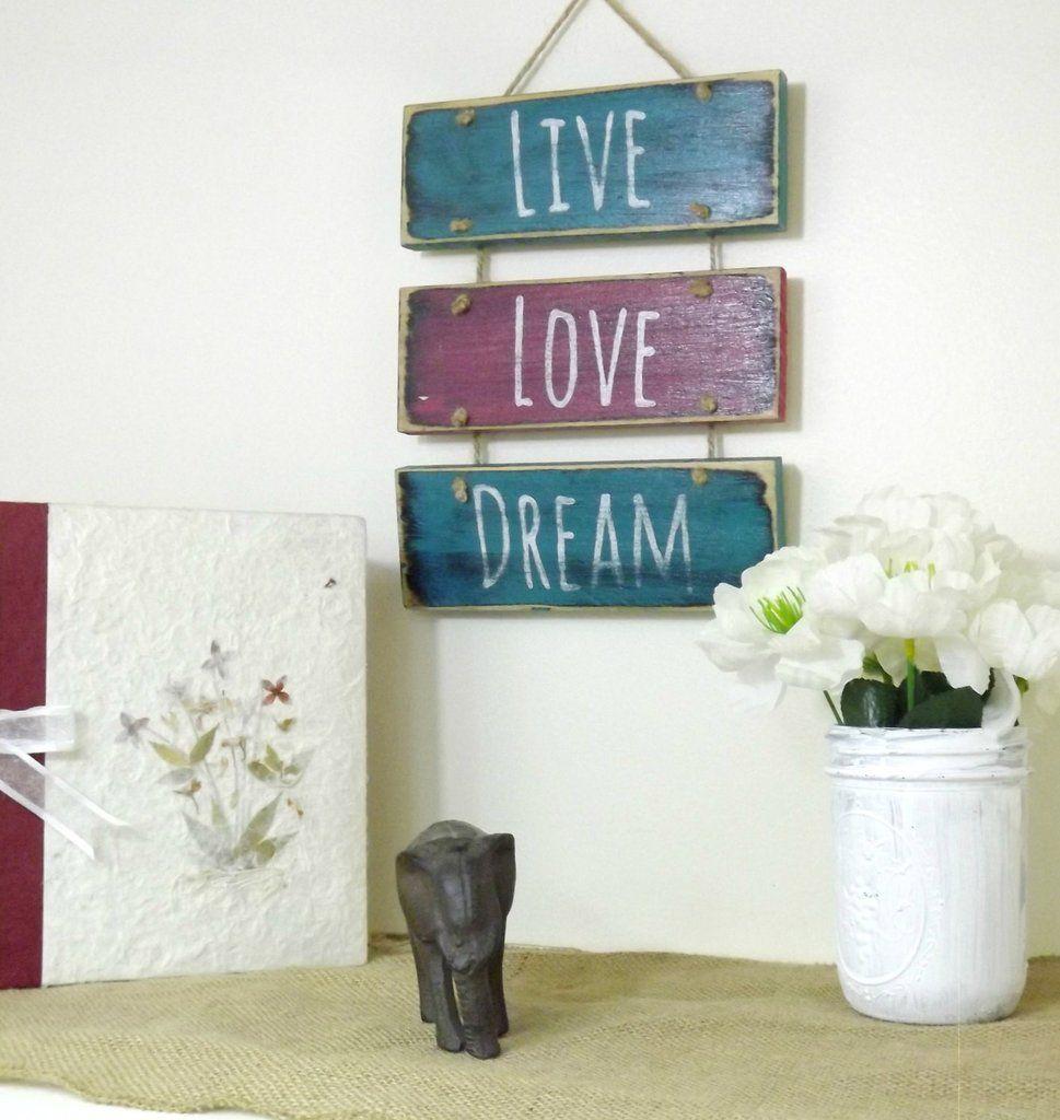 Boho Bedroom Decor- Hanging Sign