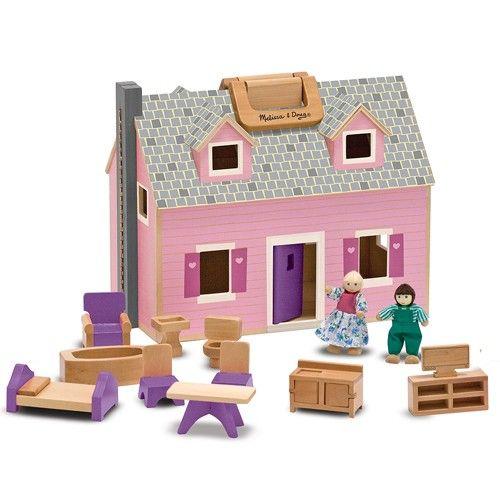 Melissa & Doug wooden fold & go dollhouse. So cute!
