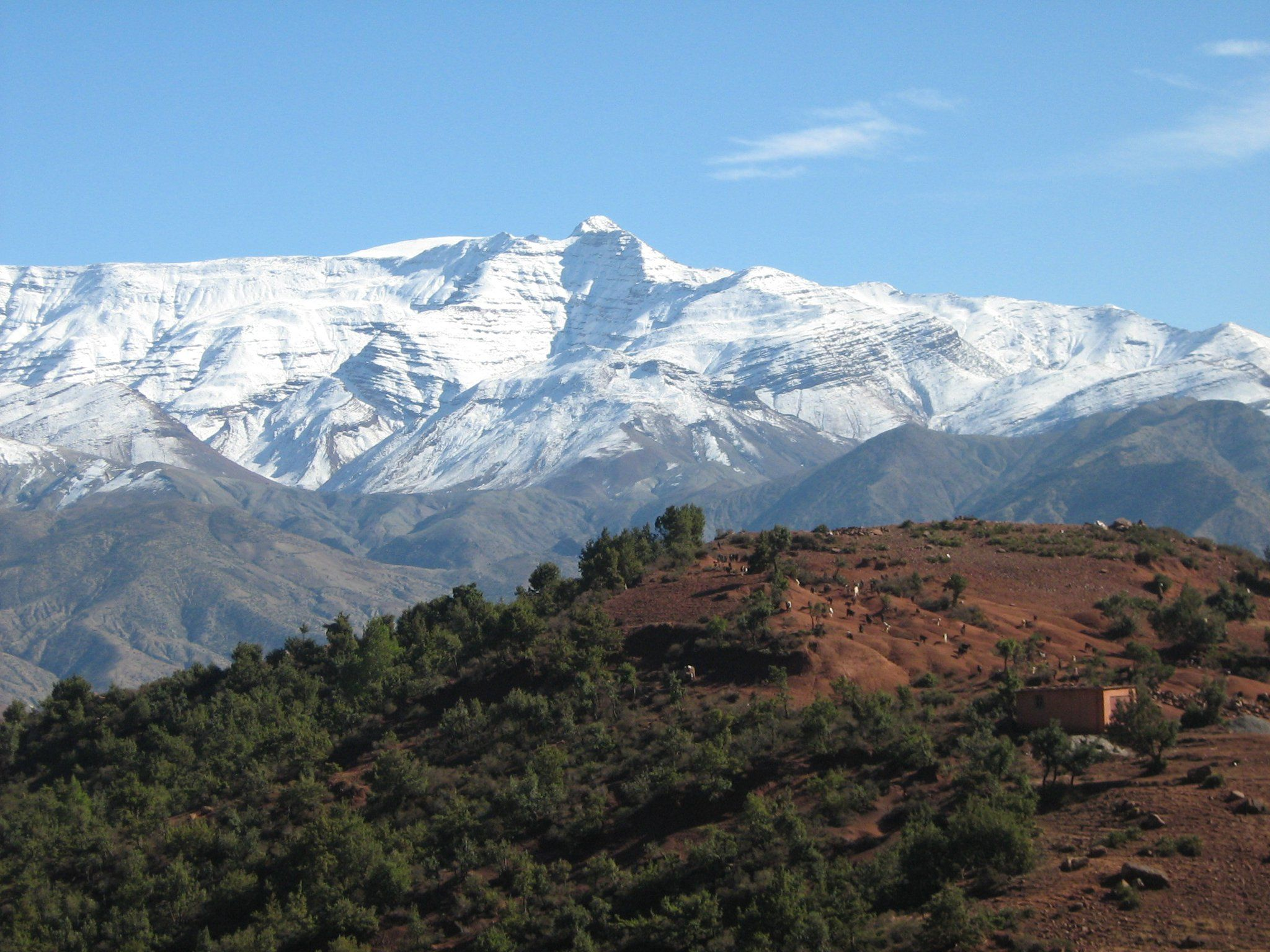 Mountains Trekking High Atlas Mountains Morocco Places