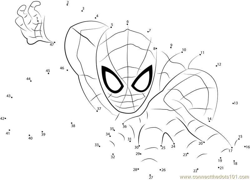 Download or print Spiderman the Superhero dot to dot printable ...