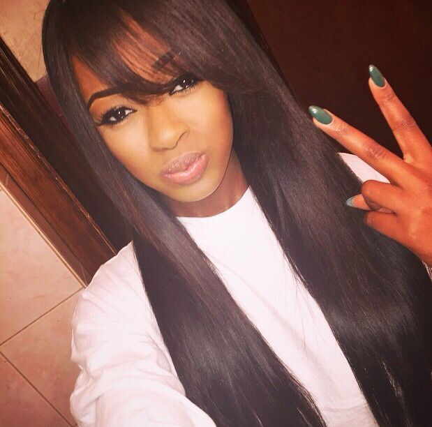 Straight Hair With Bangs Weave Best Hairstyles 2018