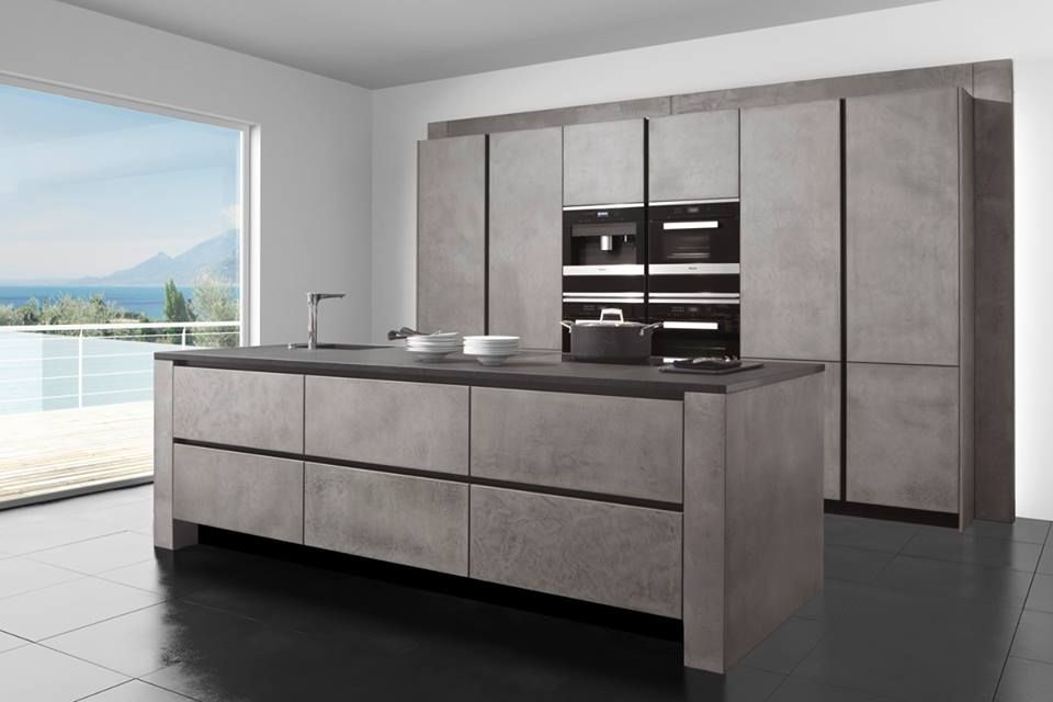 Wunderbar #concrete #kitchen #design By #german Kitchen Supplier #zeyko  Info@rowatandgray