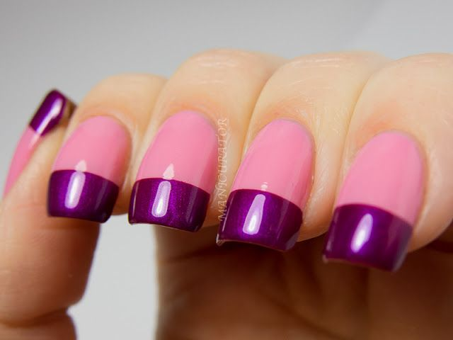 Colorful French Tip Nail Art | Nail Art | Pinterest | OPI and Swatch