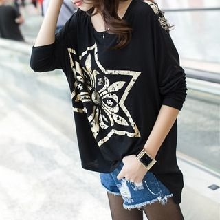 Buy Dream Girl Long-Sleeve Patterned Tunic at YesStyle.com! Quality products at remarkable prices. FREE WORLDWIDE SHIPPING on orders over US$35.