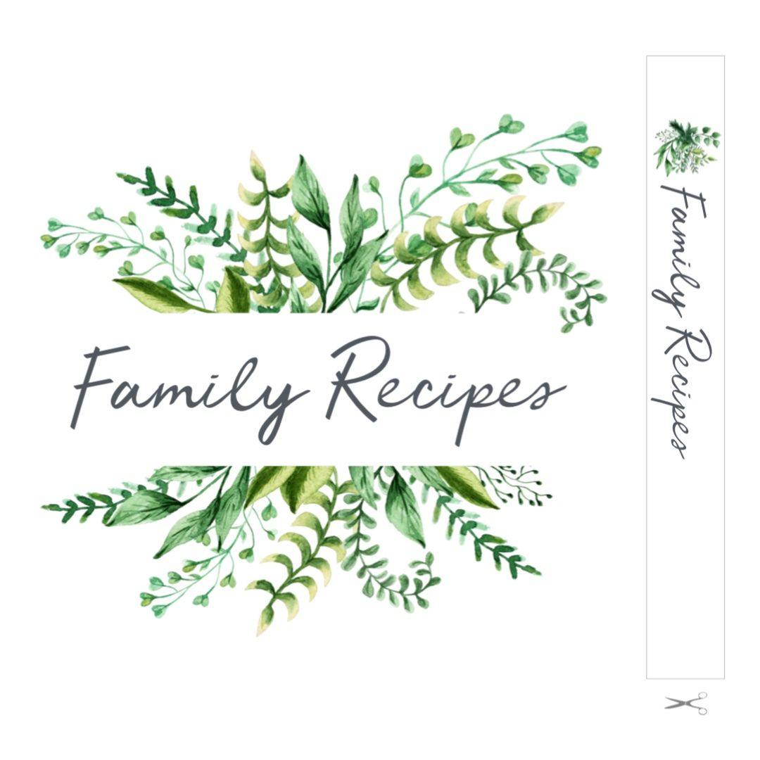 Recipe Template For Binder And Cards Recipe Book Design Recipe Book Templates Recipe Book Diy
