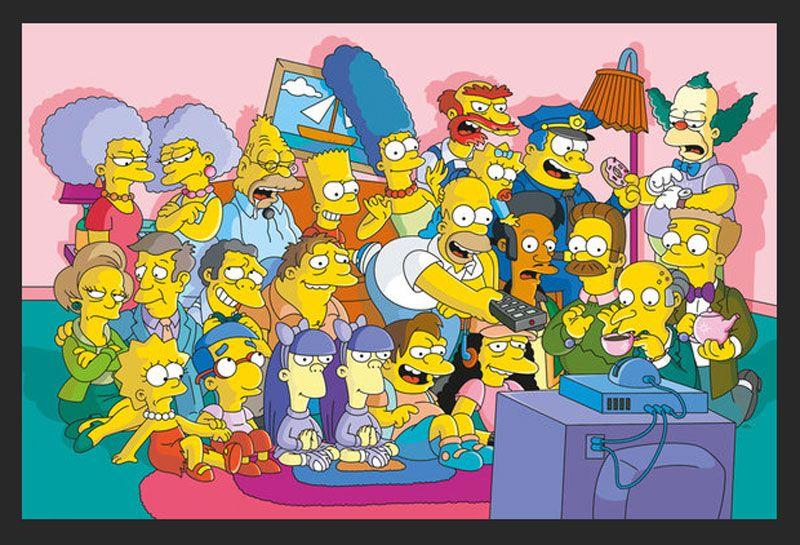 Poster com Moldura Os Simpsons Todo O Elenco 94x64cm em 2020 | Os ...