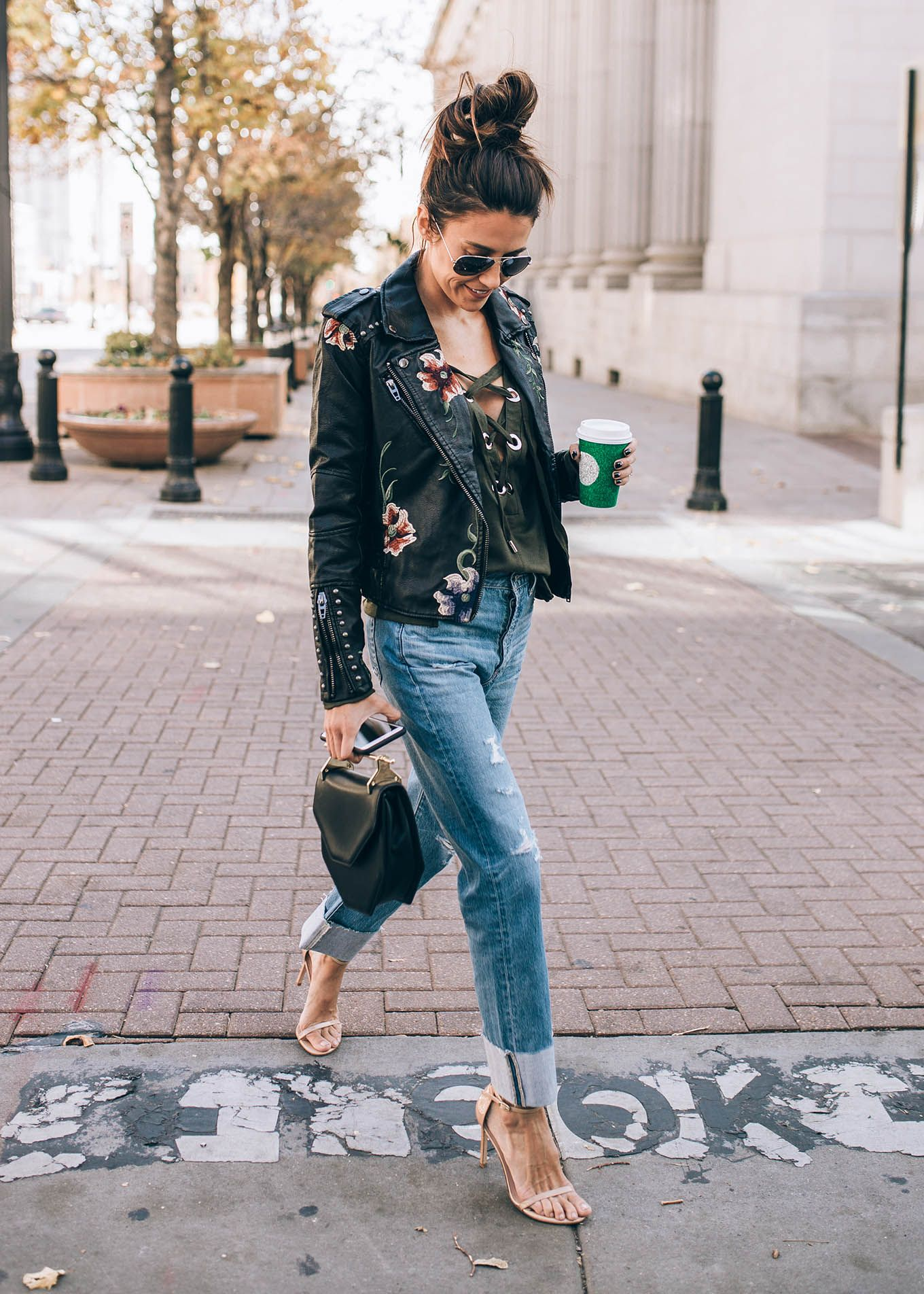 Embroidered Leather Jacket. | Style File | Pinterest | Embroidered Leather Jacket Leather ...