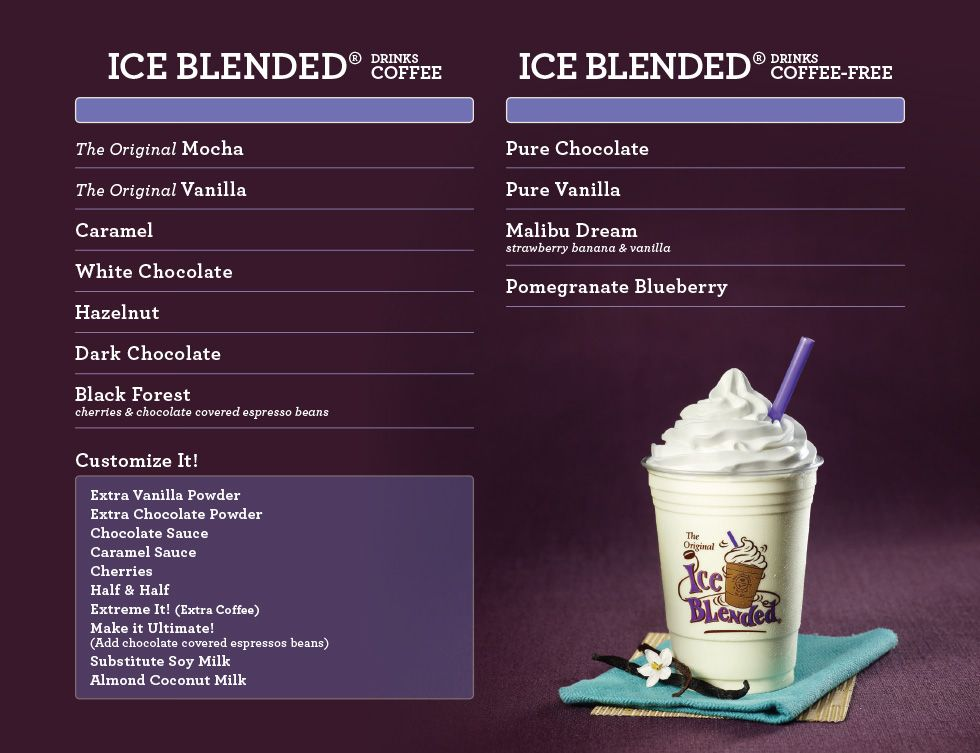 Menu Coffee Bean Google Search Mocha Chocolate