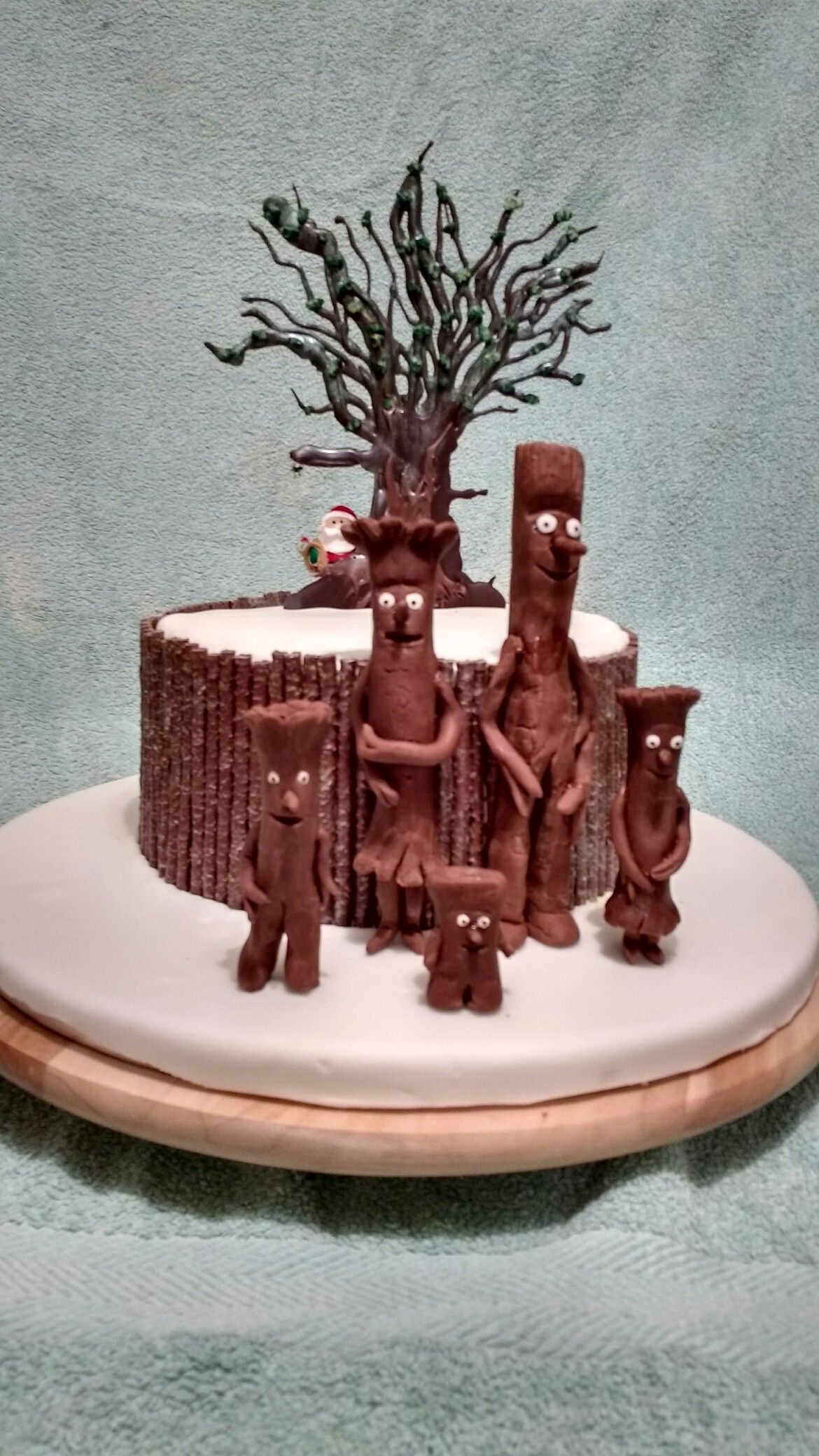 Stickman birthday cake My son wanted Father Christmas in it too