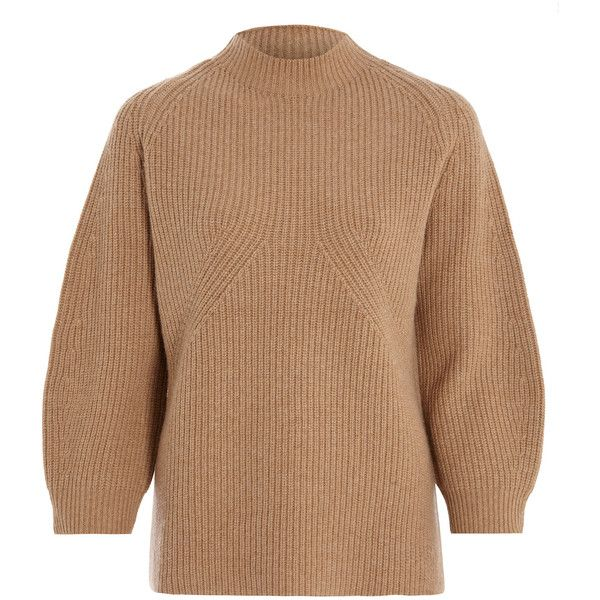 3.1 Phillip Lim Camel Raglan Chunky Knit Jumper ( 605) ❤ liked on Polyvore  featuring tops 1fb5cb57d