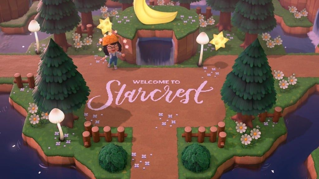 Wanted To Share The Entrance I Made For My Island Horizondesigns Acnh Island Designs Ideas In 2020 Animal Crossing New Animal Crossing Animal Crossing Villagers