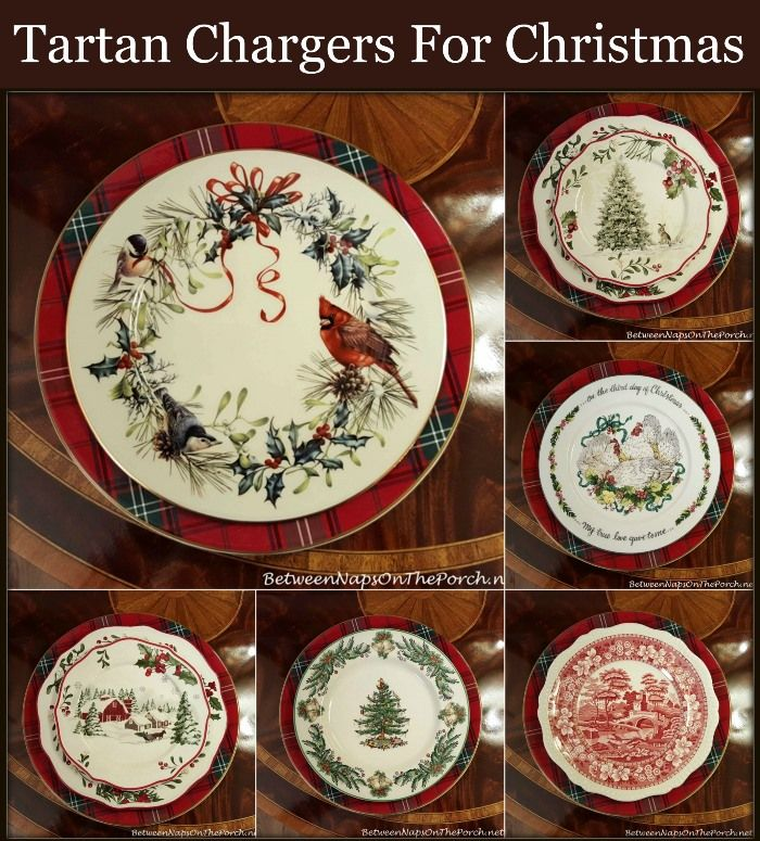 Tartan Chargers For The Holiday Table Christmas Dinnerware Christmas Tableware Christmas Table Settings