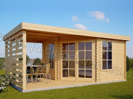 Garden Sheds 5m X 3m summer house sunflower plus 5m x 3m (17' x 10') 28mm | shed/deck