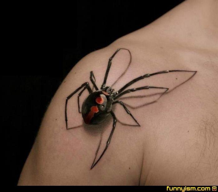 Spider Tattoo 3d Tattoos Amazing 3d Tattoos Spider Tattoo