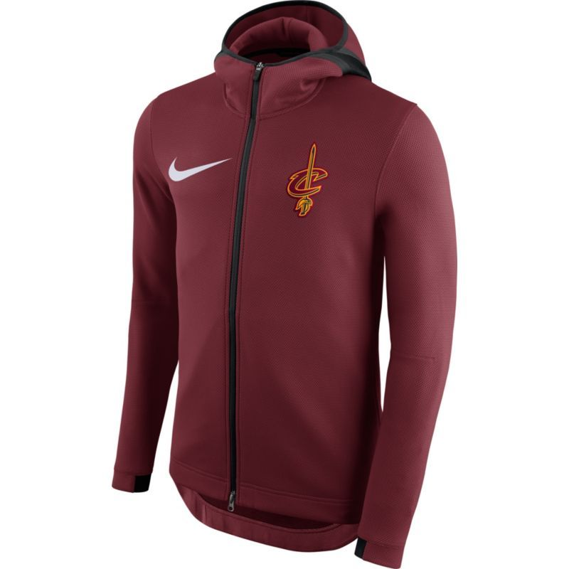 6929cdca37d Nike Men s Cleveland Cavaliers On-Court Burgundy Therma Flex Showtime Full-Zip  Hoodie