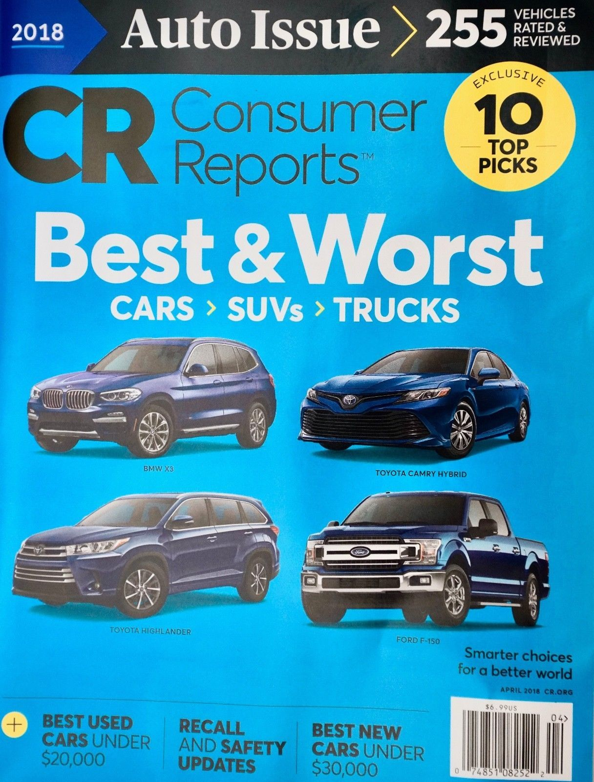US-Deals Cars Consumer Reports Auto Issue Buying Guide Cars Trucks SUVs  April 2018, 255 Models: $9.98 End Date: Wednesday…%#USDeals%
