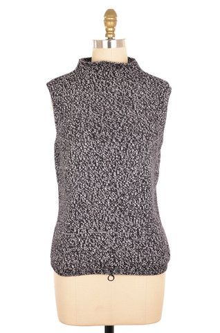 Talbots Sleeveless Black and White Knit Top Size M   ClosetDash #fashion #style #tops #blouses