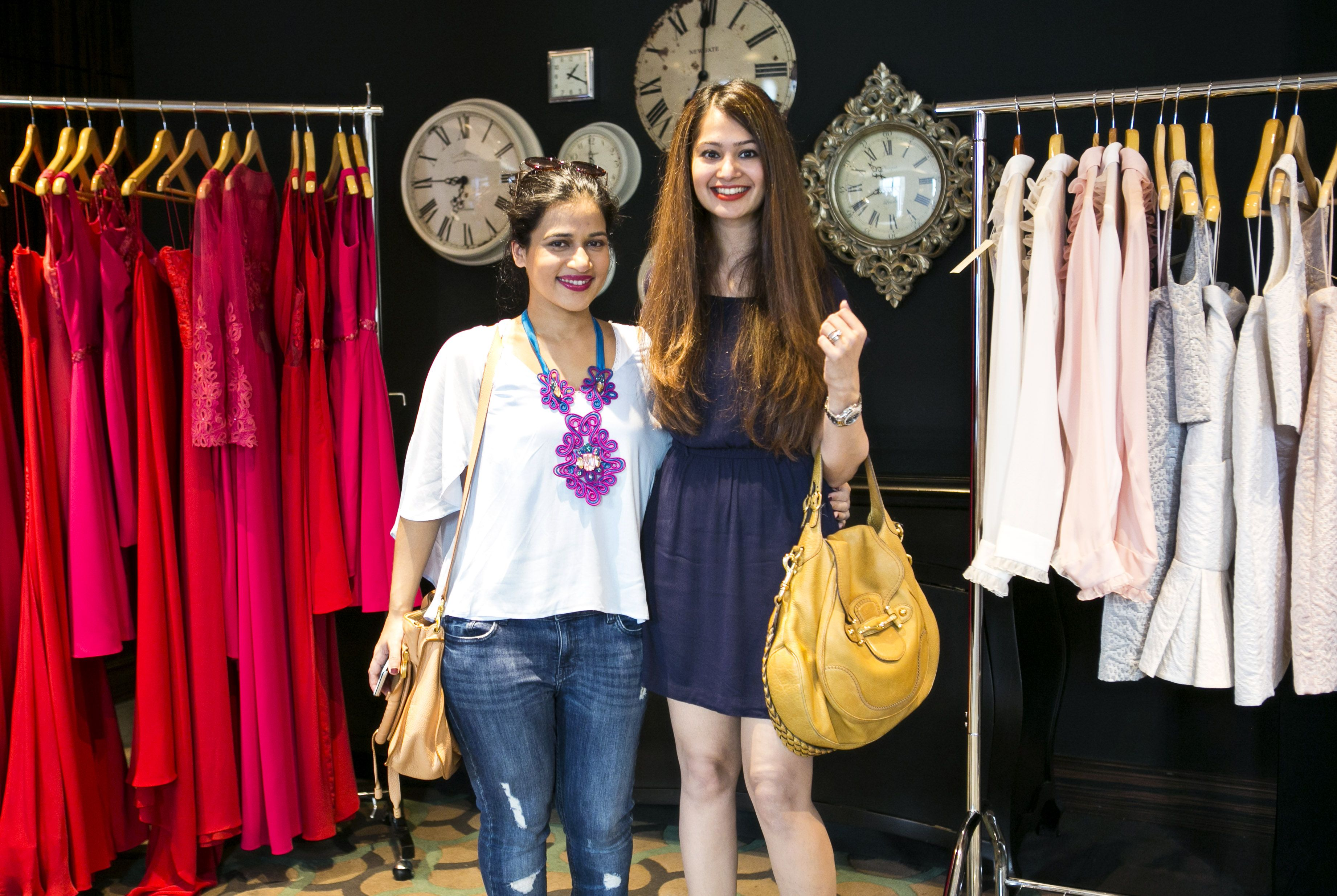 Malika Omar And Karuna Advani At The Glam Closet Trunk Show At Capital  Club, DIFC