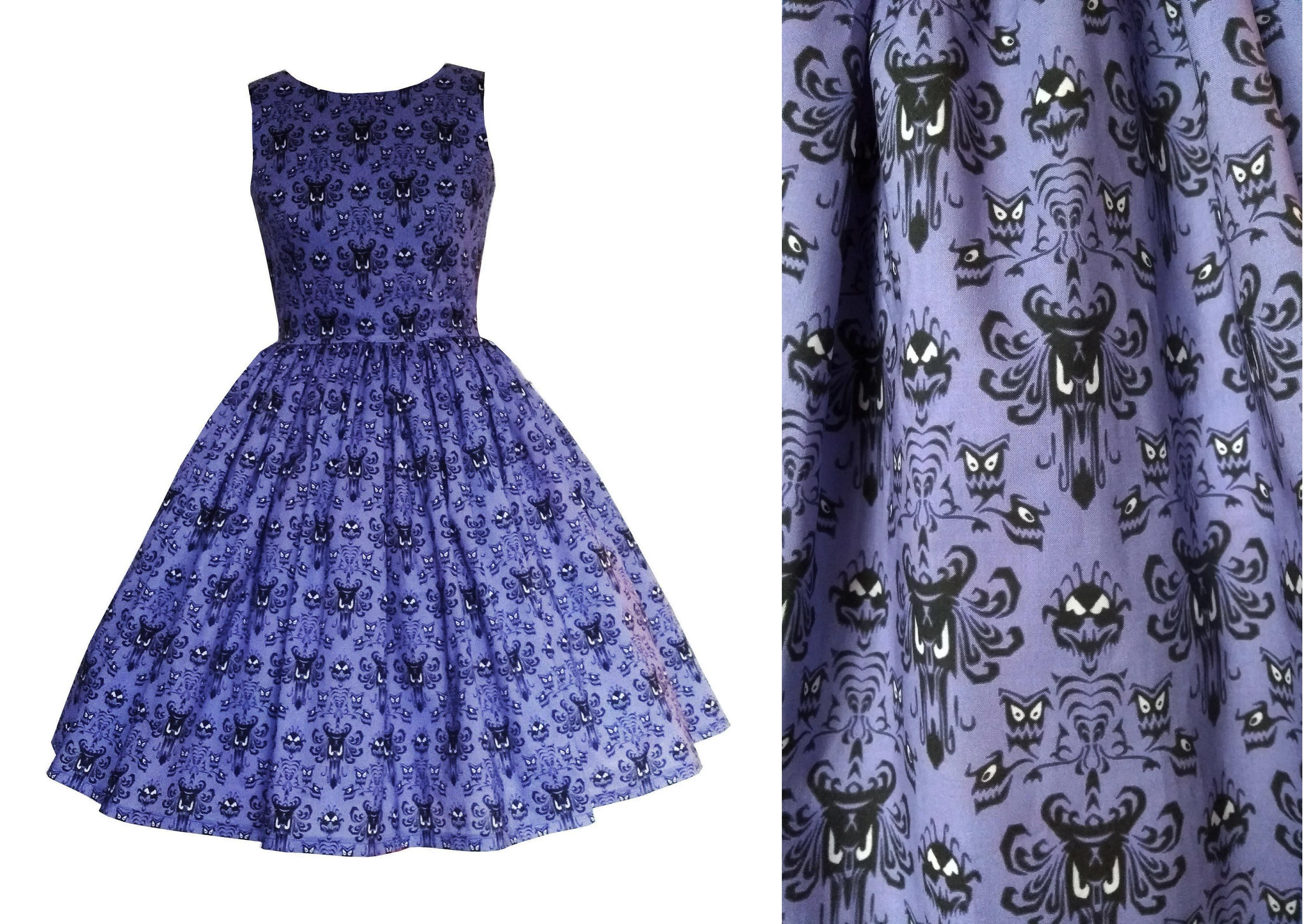 Haunted Mansion Wallpaper fabric dress inspired by the