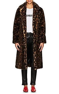 979362b7528f Marvin Leopard-Print Faux-Fur Long Coat | fall 2018 in 2019 | Long ...