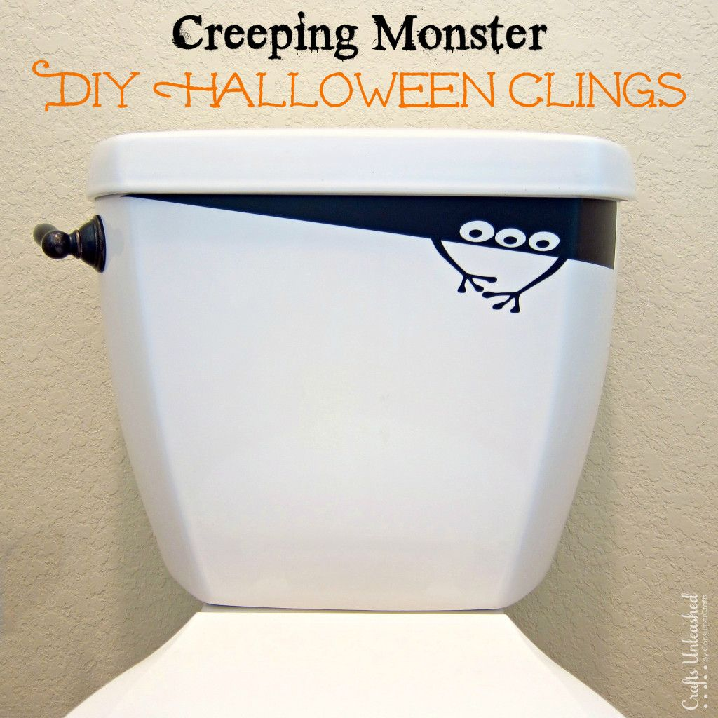 Halloween Decorations DIY Creeping Monster Vinyl Clings Monsters - halloween decorations diy