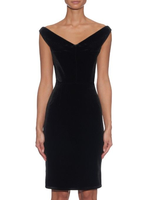 EMILIO DE LA MORENA Off-the-shoulder velvet dress