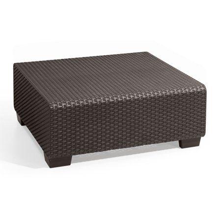 Keter Salta Coffee Table Graphite, Resin Outdoor Patio Furniture - Walmart.com