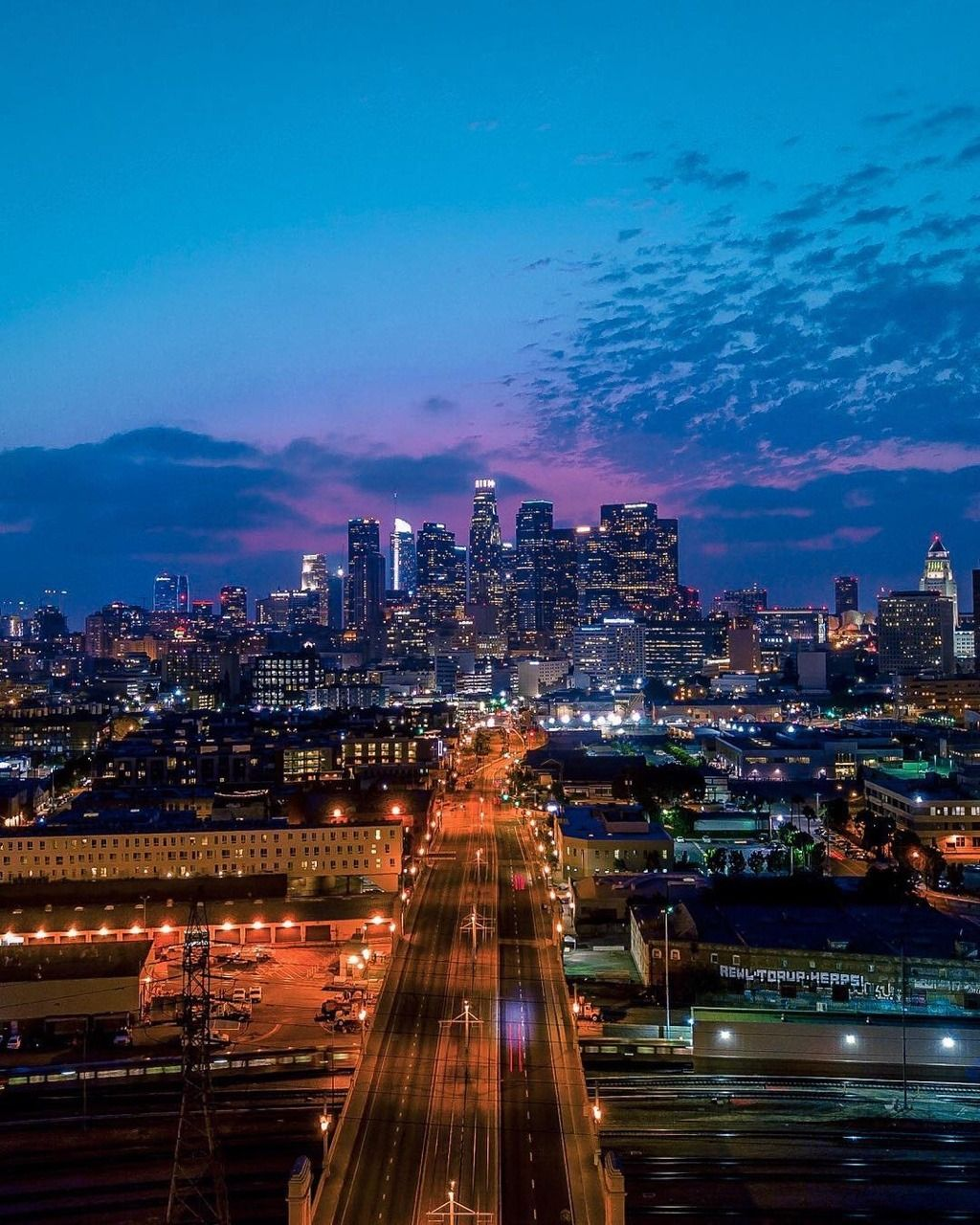 Downtown Los Angeles At Night By Aaron Carter Los Angeles