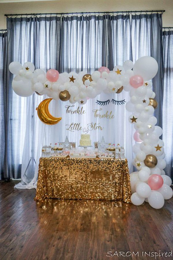 25 Balloon Ideas For Party Girl Baby Shower Decorations Baby