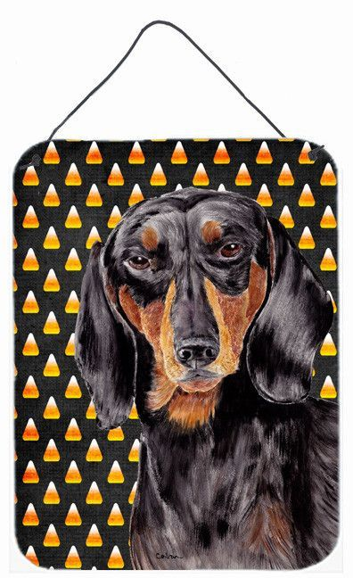 Dachshund Candy Corn Halloween Portrait Wall or Door Hanging Prints