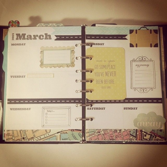 #ShareIG Next week design for my planner. It's a traveling theme. #filofax #agenda #journal
