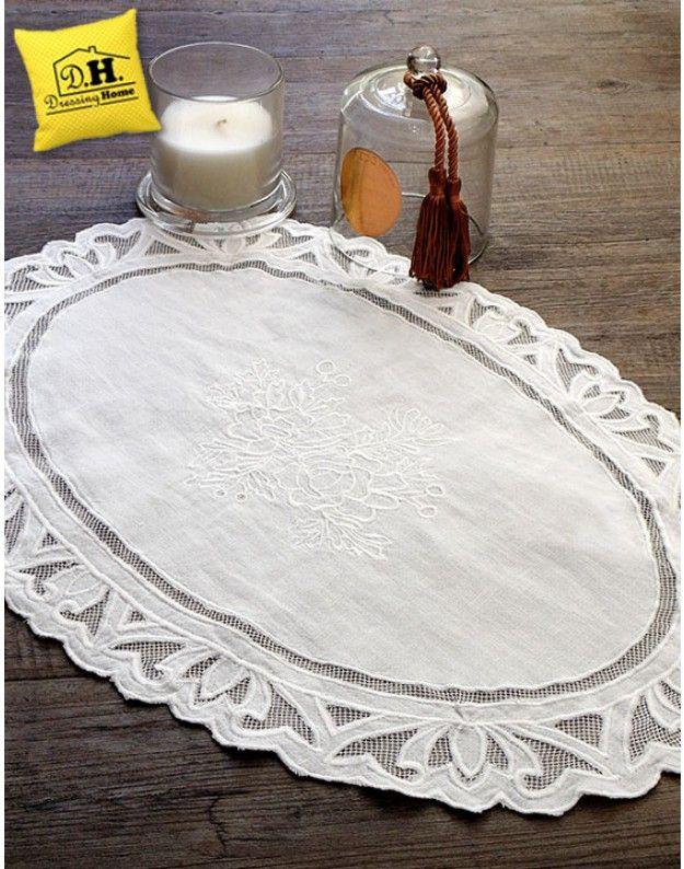 Tovaglietta americana Shabby Chic La Rugea Collection Blanc Mariclo ...